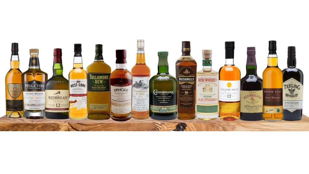 collection de whiskey irlandais